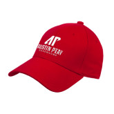 Red Heavyweight Twill Pro Style Hat-AP Austin Peay Governors - Official Athletic Logo