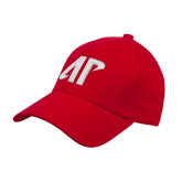 Red Heavyweight Twill Pro Style Hat-AP