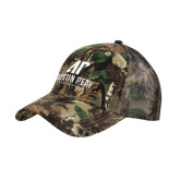 Camo Pro Style Mesh Back Structured Hat-AP Austin Peay Governors - Official Athletic Logo