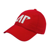 Red Twill Unstructured Low Profile Hat-AP