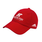 Adidas Red Slouch Unstructured Low Profile Hat-AP Austin Peay Governors - Official Athletic Logo