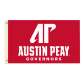 3 ft x 5 ft Flag-AP Austin Peay Governors - Official Athletic Logo