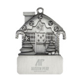 Pewter House Ornament-AP Austin Peay Governors - Official Athletic Logo Engraved