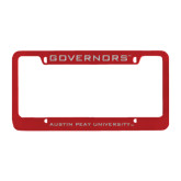 Metal Red License Plate Frame-Governors