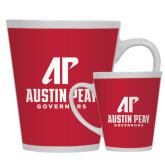 12oz Ceramic Latte Mug-AP Austin Peay Governors - Official Athletic Logo