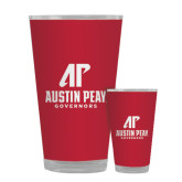 Full Color Glass 17oz-AP Austin Peay Governors - Official Athletic Logo