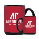 Full Color Black Mug 15oz-AP Austin Peay Governors - Official Athletic Logo
