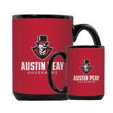 Full Color Black Mug 15oz-Governor Austin Peay Governors