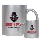 11oz Silver Metallic Ceramic Mug-Governor Austin Peay Governors