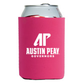 Collapsible Hot Pink Can Holder-AP Austin Peay Governors - Official Athletic Logo