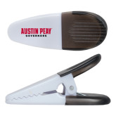 White Crocodile Clip/Magnet-Austin Peay Governors Flat