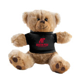 Plush Big Paw 8 1/2 inch Brown Bear w/Black Shirt-AP Austin Peay Governors - Official Athletic Logo