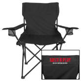 Deluxe Black Captains Chair-AP Austin Peay Governors - Official Athletic Logo