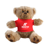 Plush Big Paw 8 1/2 inch Brown Bear w/Red Shirt-AP Austin Peay Governors - Official Athletic Logo