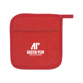 Quilted Canvas Red Pot Holder-AP Austin Peay Governors - Official Athletic Logo