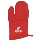 Quilted Canvas Red Oven Mitt-AP Austin Peay Governors - Official Athletic Logo
