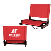 Stadium Chair Red-AP Austin Peay Governors - Official Athletic Logo