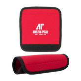 Neoprene Red Luggage Gripper-AP Austin Peay Governors - Official Athletic Logo