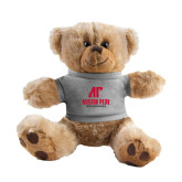 Plush Big Paw 8 1/2 inch Brown Bear w/Grey Shirt-AP Austin Peay Governors - Official Athletic Logo