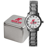 Mens Stainless Steel Fashion Watch-AP Austin Peay Governors - Official Athletic Logo