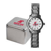 Ladies Stainless Steel Fashion Watch-AP Austin Peay Governors - Official Athletic Logo