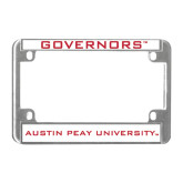 Metal Motorcycle License Plate Frame in Chrome-Governors