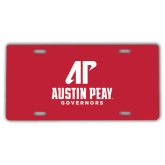 License Plate-AP Austin Peay Governors - Official Athletic Logo