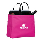 Tropical Pink Essential Tote-AP Austin Peay Governors - Official Athletic Logo