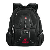 Wenger Swiss Army Mega Black Compu Backpack-AP Austin Peay Governors - Official Athletic Logo