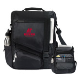Momentum Black Computer Messenger Bag-AP Austin Peay Governors - Official Athletic Logo