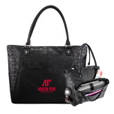 Sophia Checkpoint Friendly Black Compu Tote-AP Austin Peay Governors - Official Athletic Logo