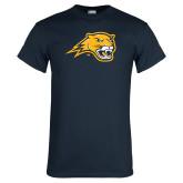 Navy T Shirt-Cougar Head