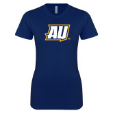 Next Level Ladies SoftStyle Junior Fitted Navy Tee-AU