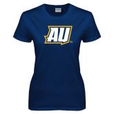 Ladies Navy T Shirt-AU