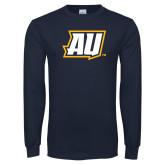 Navy Long Sleeve T Shirt-AU