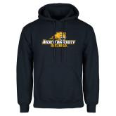 Navy Fleece Hoodie-Softball