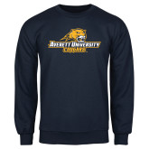 Navy Fleece Crew-Averett University Cougars