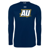 Under Armour Navy Long Sleeve Tech Tee-AU