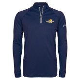 Under Armour Navy Tech 1/4 Zip Performance Shirt-Averett University Cougars