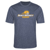 Performance Navy Heather Contender Tee-Averett University Cougars