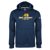 Under Armour Navy Performance Sweats Team Hoodie-Averett University Cougars