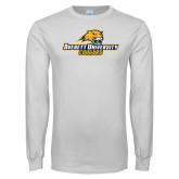 White Long Sleeve T Shirt-Averett University Cougars
