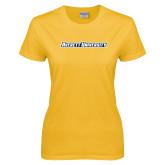 Ladies Gold T Shirt-Averett University