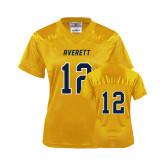 Ladies Gold Replica Football Jersey-#12