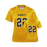 Ladies Gold Replica Football Jersey-#22