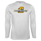 Performance White Longsleeve Shirt-Averett University Cougars