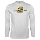 Syntrel Performance White Longsleeve Shirt-Averett University Cougars