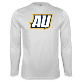 Performance White Longsleeve Shirt-AU