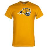 Gold T Shirt-Cougar Head