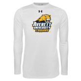 Under Armour White Long Sleeve Tech Tee-Primary Mark